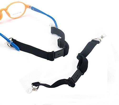 2PCS Einstellbare Sport Schlüsselanhängerform Gurt mit Schnalle Erwachsene Kinder Sonnenbrille Cord Eyewear Retainer Schlüsselanhängerform Elastic Band Halter Lanyard
