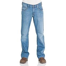 Mustang Herren Jeans Oregon - Bootcut - Blau - Light Blue - Mid Blue - Dark Blue, Größe:W 31 L 32, Farbe:Light Blue (212)