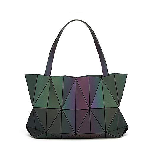 LYLb Geometrische rhombische Laser-Tasche - Diamant-faltende Diamant-Beutel-Vielzahl-Schulter-Beutel-Dame-Tasche