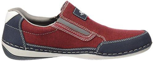 Rieker - B9251 Loafers & Mocassins-men, Mocassini Uomo Rosso (Denim/mohn/rosso/weiss / 14)