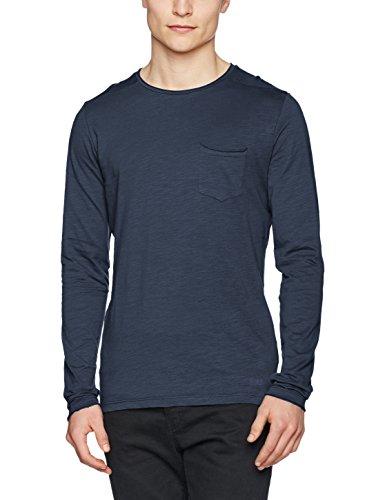 Blend Herren Langarmshirt Blau (Midnight Blue 74636)