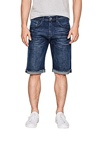 ESPRIT 067ee2c013-Denim, Pantaloncini Uomo Blu (Blue Dark Wash 901)