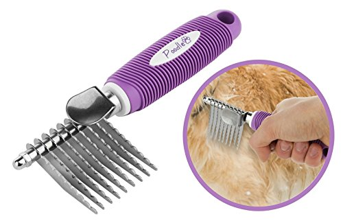 Poodle Pet Dematting Fur Rake Comb Brush Tool with Long 2.5