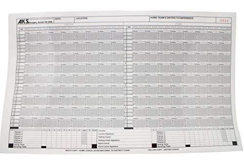 AKS Designs High School Pitch Count Form - High School Baseball Krug Anforderungen (25 Blatt + Carbonless Copies) -