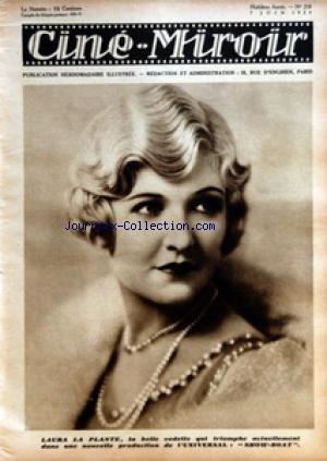 CINE MIROIR [No 218] du 07/06/1929 - LAURA LA PLANTE