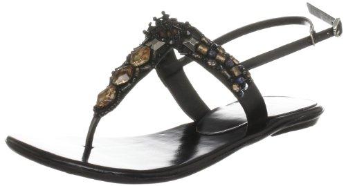 Unze Evening Sandals, Damen Sandalen Schwarz (L18531W)