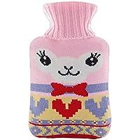 Warme einfache klassische Gummi kalte Heißwasserflasche 1 Liter mit netten Knit-Abdeckung#16 preisvergleich bei billige-tabletten.eu