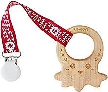 LULLALOVE MaMari - Mordedor de madera de arce en forma de Pulpo