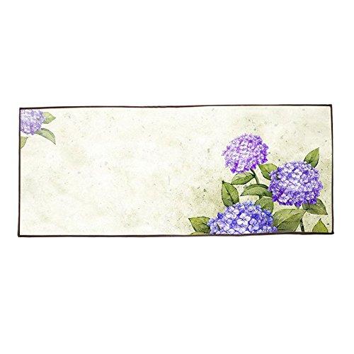 Fiori viola cotone lino interni ed esterni zerbino 40x 100cm
