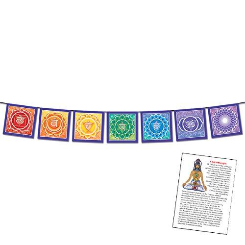 Chakra-Aura-Harmonie-Banner von Designer Bryon Allen ca.13 cm x 90 cm mit Beschreibung #81151 | Positive Raum-Energie, zwischenmenschliche Harmonie, spirituelle Gesundheit und innere Kraft - Balsam für Aura, Körper, Geist und Seele. Mit Beschreibung: Chakratherapie. Kurzes Chakra-Wissen zu passenden Heilsteinen für die Chakra-Heilung und den Auraschutz. (Prana Herz)