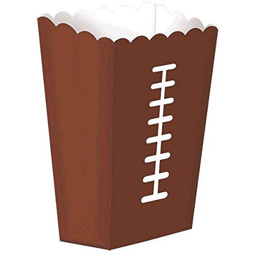 Amscan 290025 Birthday Football Themed Large Snack Paper Box Tableware Party-Zubehör Papier braun