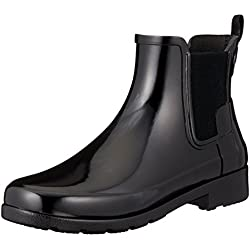 Hunter Original Refined Chelsea Gloss WFS1017RGL BLK, botas de agua color negro, 36