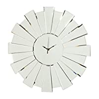 Innova Sunburst W04096 Glass Wall Clock 55 x 55 x 1 cm