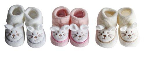 FC ESHOP - 3 paires de chaussons naissance - bébé fille