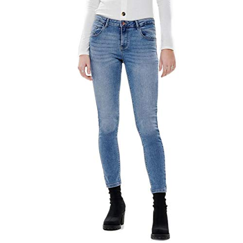 ONLY NOS Damen Skinny Jeans onlDAISY REG PUSHUPSK ANK JNS MJL102NOOS, Blau (Light Blue Denim), W32/L32 (Herstellergröße: 32)