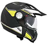 Givi HX01DBKNY60 Hps X01D Integral Casco Tourer, Color Negro Mate, Color Amarillo Neón, Talla 60/L
