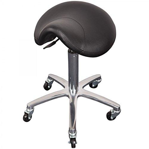 Cleveroo Drehhocker mit Sattelsitz MILEY, höhenverstellbar 56-76 cm, schwarz