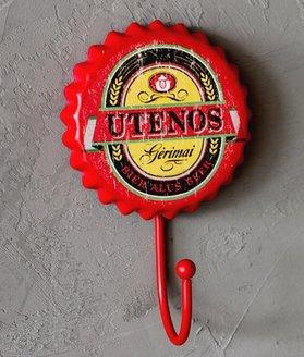 Crochet Mural Vintage Design Decoratif Porte Clés Original Bière bar brasser