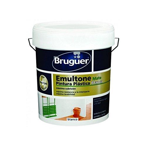 Pintura plastica Bruguer emultone mate blanco 4 lt