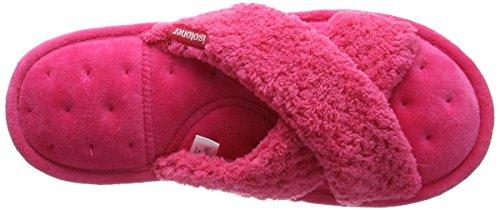 Isotoner Dames Popcorn C / Strap Pantoufles, Pantofole Donna Pink (rose Vif)