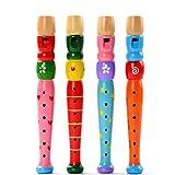 Fami Trompette en bois coloré Buglet Hooter Bugle jouet éducatif cadeau pour les enfants (Multicolore)
