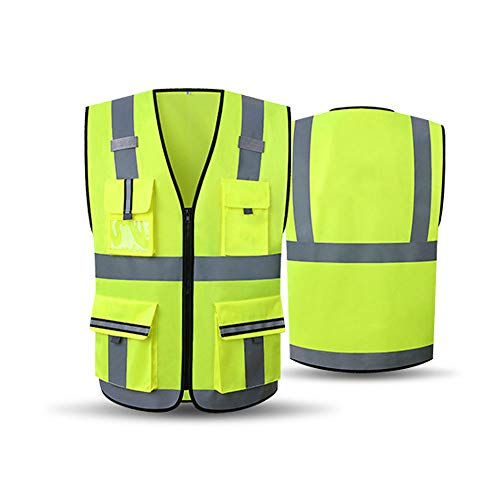 0 ℃ Outdoor Reversisible High Visibility Reflective Waterproof Workwear Security Wear Warm Gilet Waistcoat,M