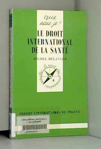 Le droit international de la santé