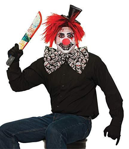 Schwarz Und Weiß Evil Jester Kostüm - labreeze Fliege für Erwachsene, Jumbo,