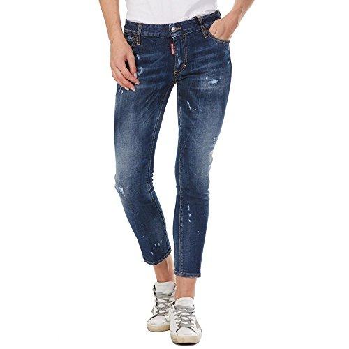 dsquared damen jeans DSQUARED Jeans Runway S72LB0160 Blue