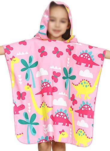 Bevalsa Kinder Jungen Mädchen Poncho Kapuzen Badetuch Schwimmen Bad Handtuch Badetuch Bademäntel Strand Tuch Weich Trocknend Cartoon Süß