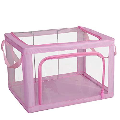 Gstrand Aufbewahrungsboxen Mit Deckel, Aufbewahrungskörbe Aus Transparentem, Stoff Faltenden Kleiderschrank Aufbewahrungsbox, Aufbewahrungsbox Aufbewahrungsbox (8 Farbe),Pink,M