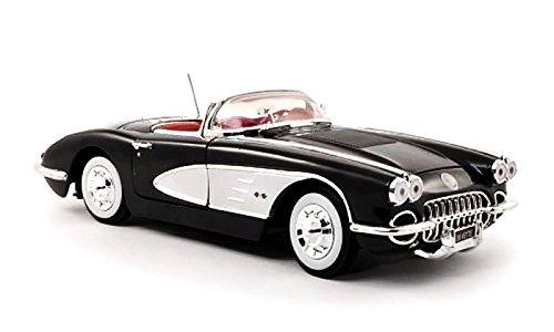 1958-chevrolet-corvette-motormax-73109-noir-118-die-cast