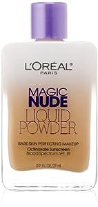 L'Oreal Paris Magic Nude Liquid Powder Bare Skin Perfecting Makeup, 320 Natural Beige, 25ml