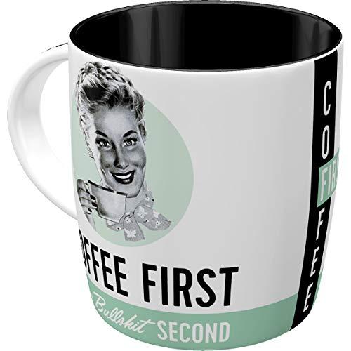 Nostalgic-Art 43024 Say it 50's - Coffee First | Retro Tasse mit Sprüchen | Kaffee-Becher | Geschenk-Tasse | Vintage
