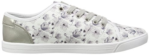 s.Oliver 23631, Sneakers basses femme Blanc - Weiß (WHITE/LT GREY 124)