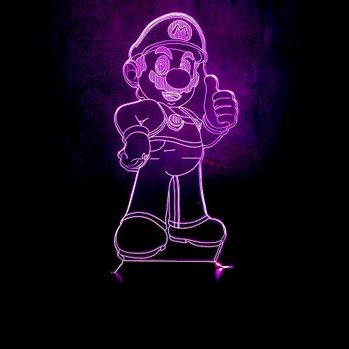 Nachtlichter Usb 3D Led Lichter Classic Game Charakter Super Mario Kleiner Mann Mit Hut Gibt Kindern Daumen Hoch Red Hats Classic Hut
