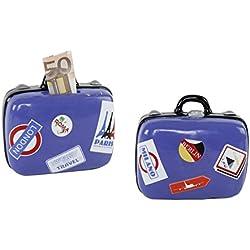 Spardose Koffer - tolle Verpackung für Geldgeschenke oder als Reisespardose / Reise Sparschwein