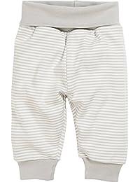 Schnizler Unisex Baby Jogginghose, Babyhose geringelt mit Umschlagbund