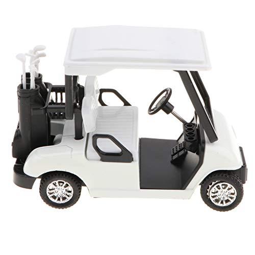 B Blesiya 1:20 Mini Legierung Zurückziehen Golfwagen Pull Back Auto Spielzeug Sammlung Dekoration - Weiß