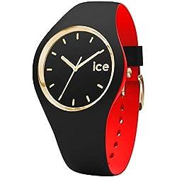 Ice-Watch - Ice Loulou Black Gold - Montre Noire pour Femme avec Bracelet en Silicone - 007225 (Small)