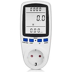 Medidor de energía, Elete CPRO Contador de consumo, enchufe multifunción automática Calcule consumo utiliza Voltaje Corriente Tiempo punto (inactivo y consumo de Ferias)