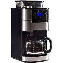 Ultratec Kaffeemaschine / Kaffee-Vollautomat mit Mahlwerk und Timerfunktion, Edelstahl/Schwarz