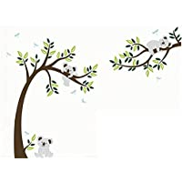 MAFENT Three cute koalas play around the tree wall sticker removable vinyl wall decal for nursery room decoration by