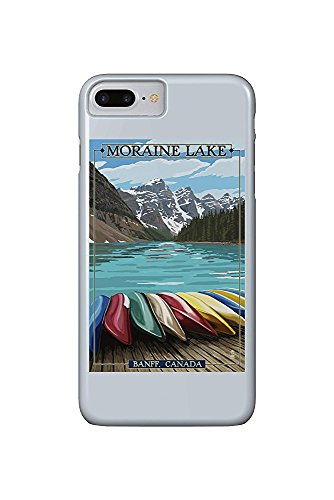 Banff, Alberta, Canada - Moraine Lake and Canoes (iPhone 7 Plus Cell Phone Case, Slim Barely There) -