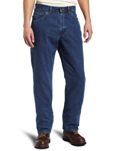 Key Apparel Men's Relaxed Fit Enzyme Wash Ring Spun 6 Pocket Denim Jean, Denim, 32x30 -