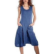 0a32f241aa4 Yidarton Damen Kleider Strand Elegant Casual A-Linie Kleid Ärmellos  Sommerkleider