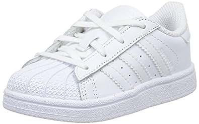 Adidas B23655, Chaussures de basketball Garçon - Blanc (Ftwwht/Ftwwht/Ftwwht), 49.33 EU