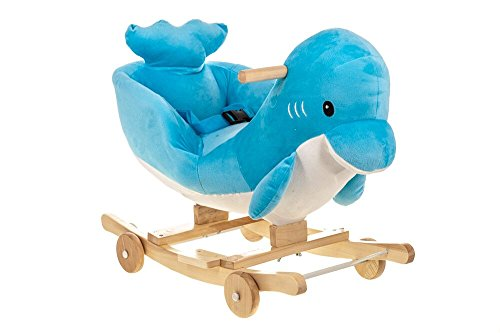 Costello� HQ BLUE DOLPHIN BABY CHILDREN KID SOFT ROCKING HORSE ANIMAL TODDLER CHAIR INFANT ROCKER TOY ?FREE NEXT DAY DELIVERY?SAME DAY DISPATCH BEFORE 2PM?