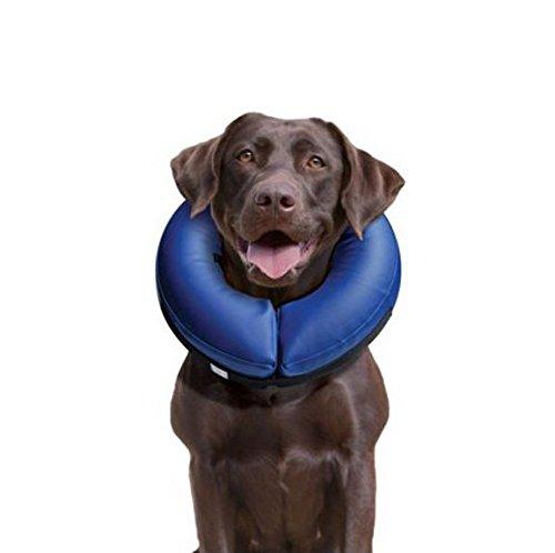 LABT Halskrause Hund Katzen XL aufblasbar Weich Schutzkragen Soft Hundehalskrause Halskragen Hundekragen Leckschutz 60-77 cm