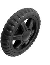 Sourcingmap a12101600ux0433 - Ruedas de repuesto (2 unidades, para maleta con ruedas o carrito de la compra, goma), color negro